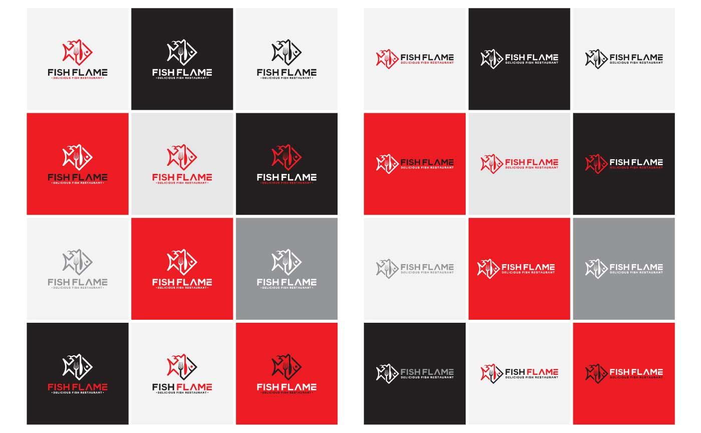 Corporate color, mono and reversed logo Variations