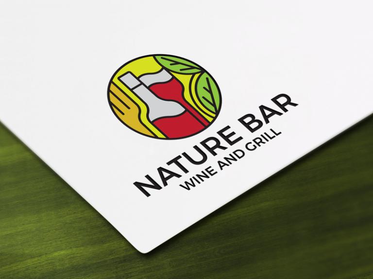 Bar and Wine Company Logo Design