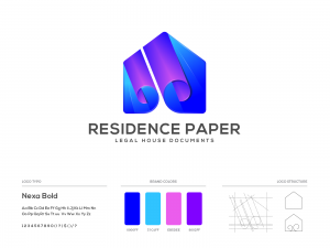 Residence Paper Logo, House, Paper