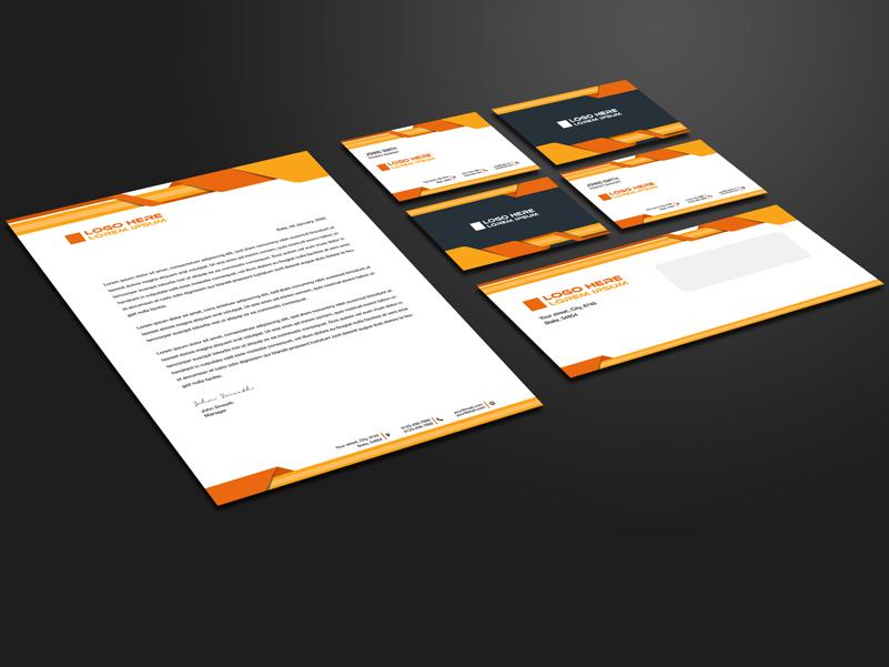 Corporate Stationery Design Orange