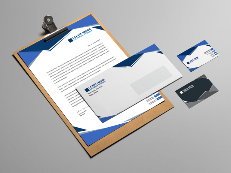 Corporate Stationery Design Blue